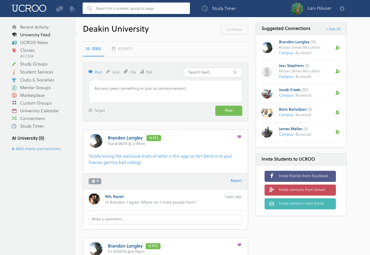 UCROO Pty. Ltd. - The University Social Network; Australien