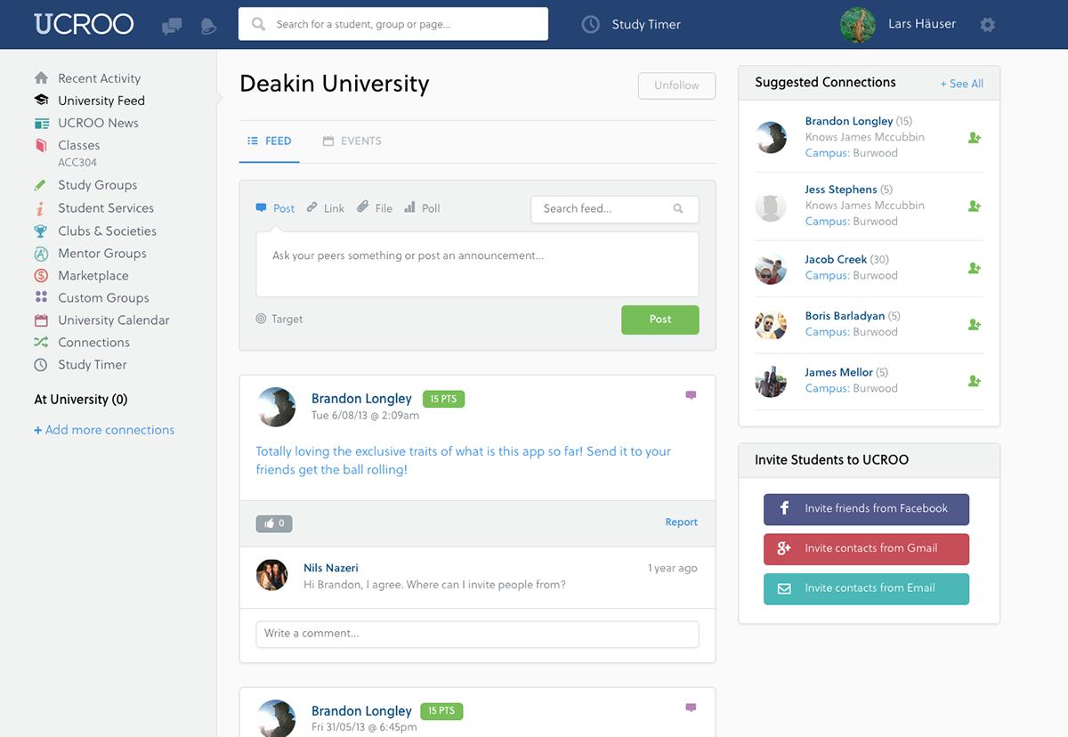 UCROO Pty. Ltd. - The University Social Network; Australien